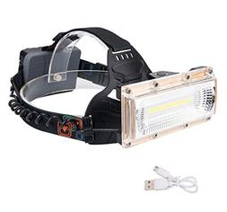1 Set 15W 3 Mode COB LED Headlamps w/USB Cable Ultra Xtreme