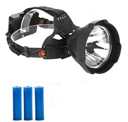1 Set 15000 Lumen 30W 3 Mode LED Headlamps w/USB Cable Ultra