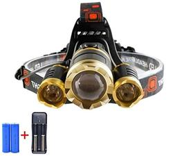 1 Set 10000 Lumen 30W CREE XM-L T6 LEDs Headlamp Ultra Xtrem