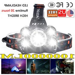 1000000LM Headlamp Zoomable Rechargeable with Zoom Extra Bri
