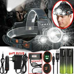 100000LM 3X T6 LED Rechargeable Head Torch Headlamp Lamp Fla