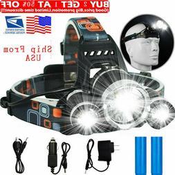 100000LM T6 LED Headlight Headlamp Head Torch 18650 Flashlig