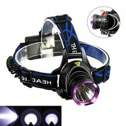 10000LM LED Headlamp Headlight Head Torch Light 2x18650 Batt