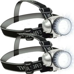 12 LED Headlamp Adjustable Strap Battery Operated Camping Hi