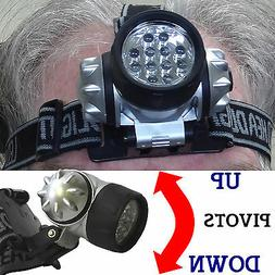12 LED Headlamp with Adjustable Strap & Light Ultra Super Br