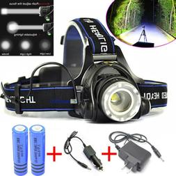 120000 LM 3-Zoom T6 LED 18650 Headlamp Rechargeable Head Lig