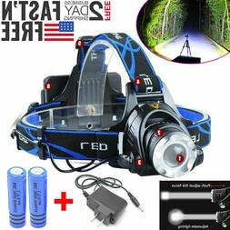 480000LM Rechargeable Head light T6 LED Tactical Headlamp Zo