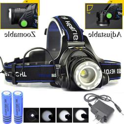 120000lm rechargeable head light t6 led tactical
