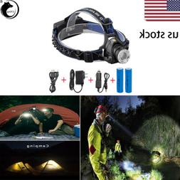 120000LM T6 LED Tactical Headlamp Rechargeable Head light Zo