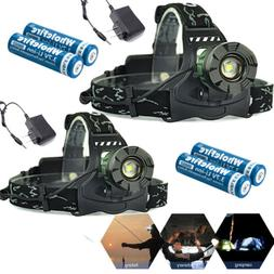 990000LM Zoomable Headlamp T6 LED Headlight Flashlight +Char