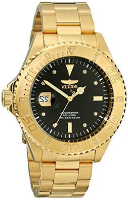 """Invicta Men's 15286 """"Pro Diver"""" 18k Yellow Gold Ion-Plated S"""