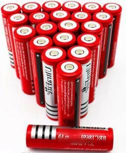 18650 3.7V  Li-ion Rechargeable Battery For Flashlight Headl