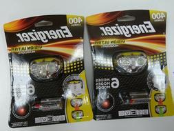 2 new Energizer LED Headlamp 400 Lumens Vision Ultra Headlig