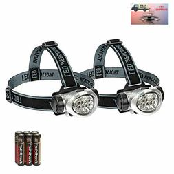 EverBrite 2-Pack Headlamp Flashlight for Running, Camping, R