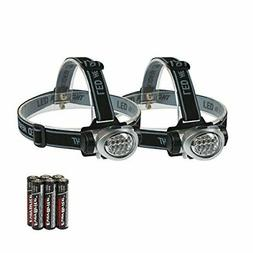 EverBrite 2-Pack Headlamp Flashlight for Running, Camping,