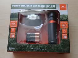 Ozark Trail 200 Lumens CREE LED Flashlight And 50L Headlamp
