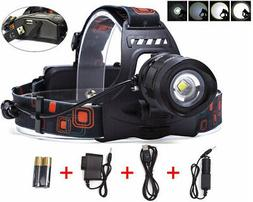 BESTSUN 2000 Lumens 5 Modes Zoomable Rechargeable LED Headla