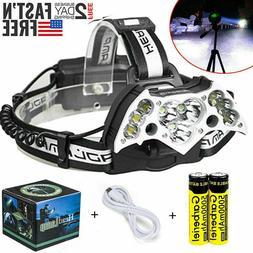 990000LM 11X T6 Rechargeable LED Headlamp Headlight 18650 Fl
