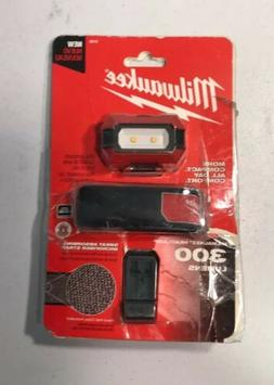Milwaukee 2106 headlamp 300 lumens W/Hardhat Clip