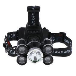 2400LM LED Headlamp USB Rechargeable Headlight for Caving Ni