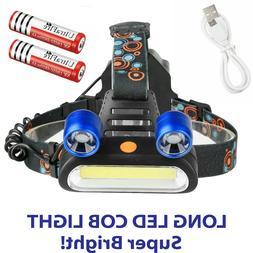 250000 LM 5X T6 LED Headlamp Rechargeable Head Light Flashli