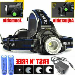 260000LM Rechargeable Head light LED Tactical Headlamp Zooma