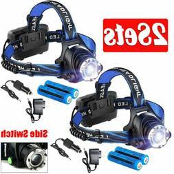 2Packs 10000LM LED Headlamp Headlight Head Torch Light 2x186