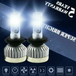 2Pcs H7 LED Headlight Bulbs Car Light Headlamps High-Low Bea