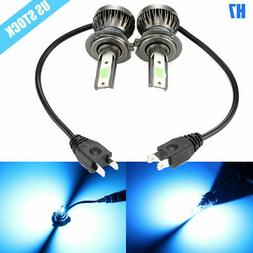 2PCS H7 LED Headlight Conversion Kit 8000K Ice Blue High Lwo