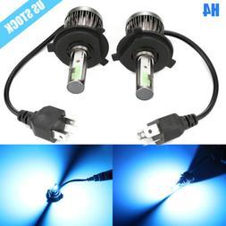 2x H4 9003 LED Headlight Conversion Kit 8000K Ice Blue High