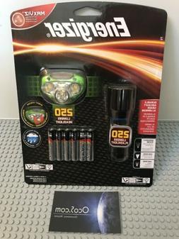 3 Energizer MaxViz 250 Lumens Flashlight, Headlight headlamp