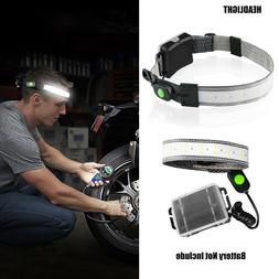 3 Modes LED Headlamp Strap Waterproof Head Band Stream Head