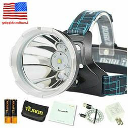 30000LM XM-L2 LED Headlamp Flashlight Headlight Rechargeable