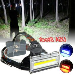 30W LED COB USB Rechargeable 18650 Headlamp Fishing Light To