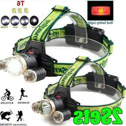 350000LM 3X  LED 4 Modes Headlamp Headlight Flashlight 18650