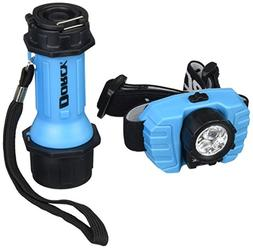 Dorcy 9-LED Flashlight and 3-LED Headlight Combo, Assorted