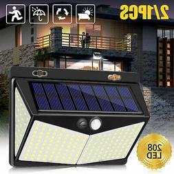 Waterproof 208 LED Solar Lamp Outdoor Garden Yard PIR Motion