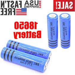 4PC 3000mAh 3.7v 18650 Battery Rechargeable for Flashlight T