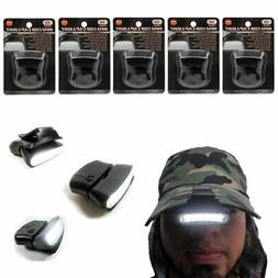5 Pack LED Clip-on Cap Hat Light Head Lamp Fishing Camp Head
