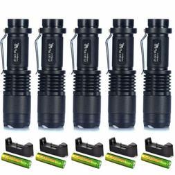 SK68 Mini XML-T6 Tactical Flashlight 50000LM + 18650 Recharg