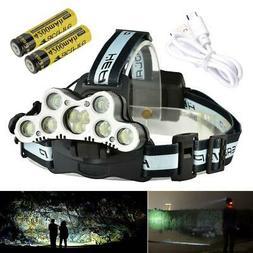 5000/80000/200000LM LED Headlamp Head Light Flashlight Recha