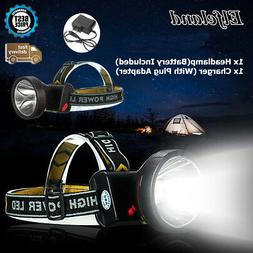 50000LM LED Rechargeable Headlight Headlamp Head Torch Workl
