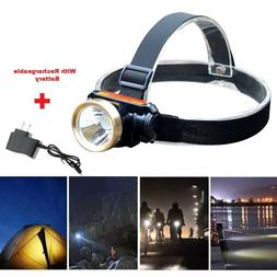 5000LM LED Rechargeable Waterproof Headlight Head Lamp + Cha