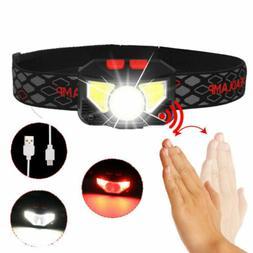 6 modes sensor led headlamp hands free