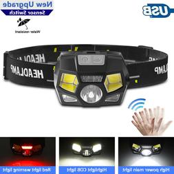 6 Modes USB Rechargeable LED Headlamp Headlight Head Lamp Fl