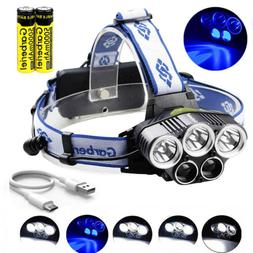 900000LM 5X T6 LED Headlamp Rechargeable Head Light Flashlig