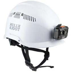 Klein Tools 60150 White Vented Class C Safety Helmet With He
