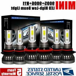 Mini Combo 9006 + 9005 + H11 LED Headlight Kit 744750LM Hi-L