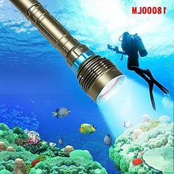 BeesClover 18000LM 7 XML-T6 LED Strong Light Diving Flashlig