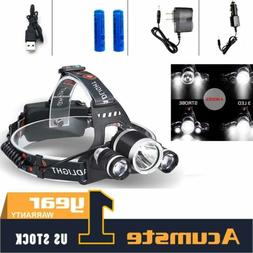 80000Lm XM-L T6 3LED Headlamp for Hunting Hiking Headlight H